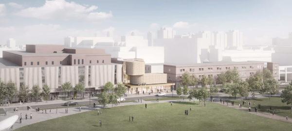 Rendering of Hariri Pontarini Architects' winning design, aerial view