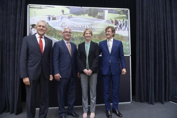 Image of York University President Mamdouh Shoukri, Doug Bergeron and his wife Sandra Bergeron. and Janusz Kozinski, Dean of the Lassonde School of Engineering,