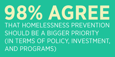 A new report on homelessness says prevention is key to ending the problem.