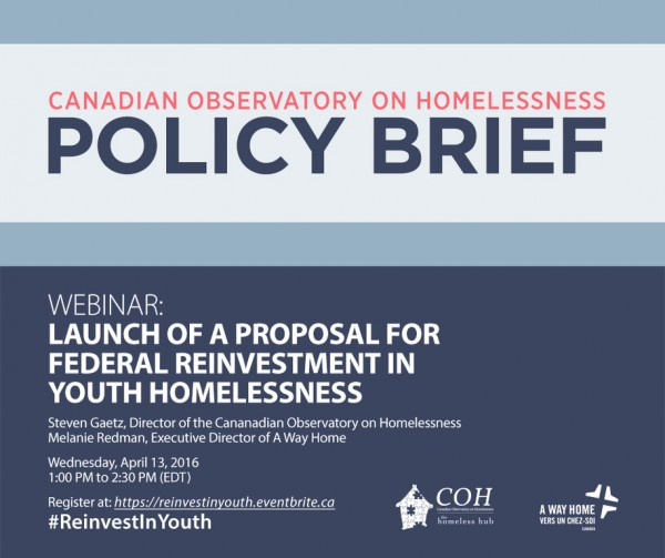 Canadian Observatory on Homelessness Policy Brief Webinar 2016