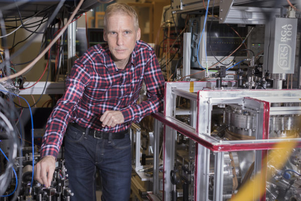 York University Distinguished Research Professor Eric Hessels in his lab