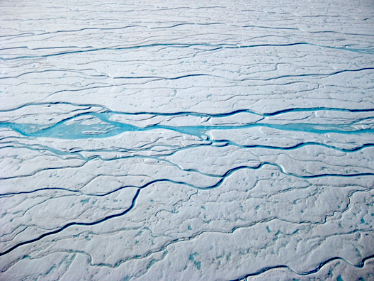 Meltwater rivers on the Greenland ice sheet