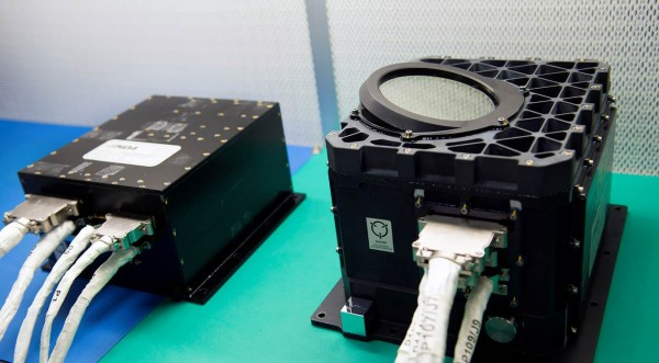 The OSIRIS-REx Laser Altimeter (OLA), contributed by the Canadian Space Agency (CSA), will create 3-D maps of asteroid Bennu to help the mission team select a sample collection site. NASA's OSIRIS-REx spacecraft will travel to the near-Earth asteroid Bennu and bring at least a 60-gram (2.1-ounce) sample back to Earth for study. Photo credit: NASA/Goddard/Debbie McCallum