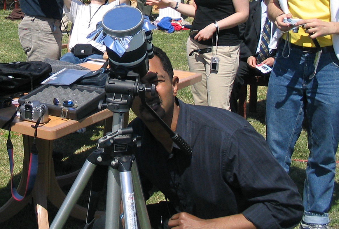 Ray Jayawardhana, astrophysicist and Dean of the Faculty of Science, taking in the total solar eclipse in Turkey