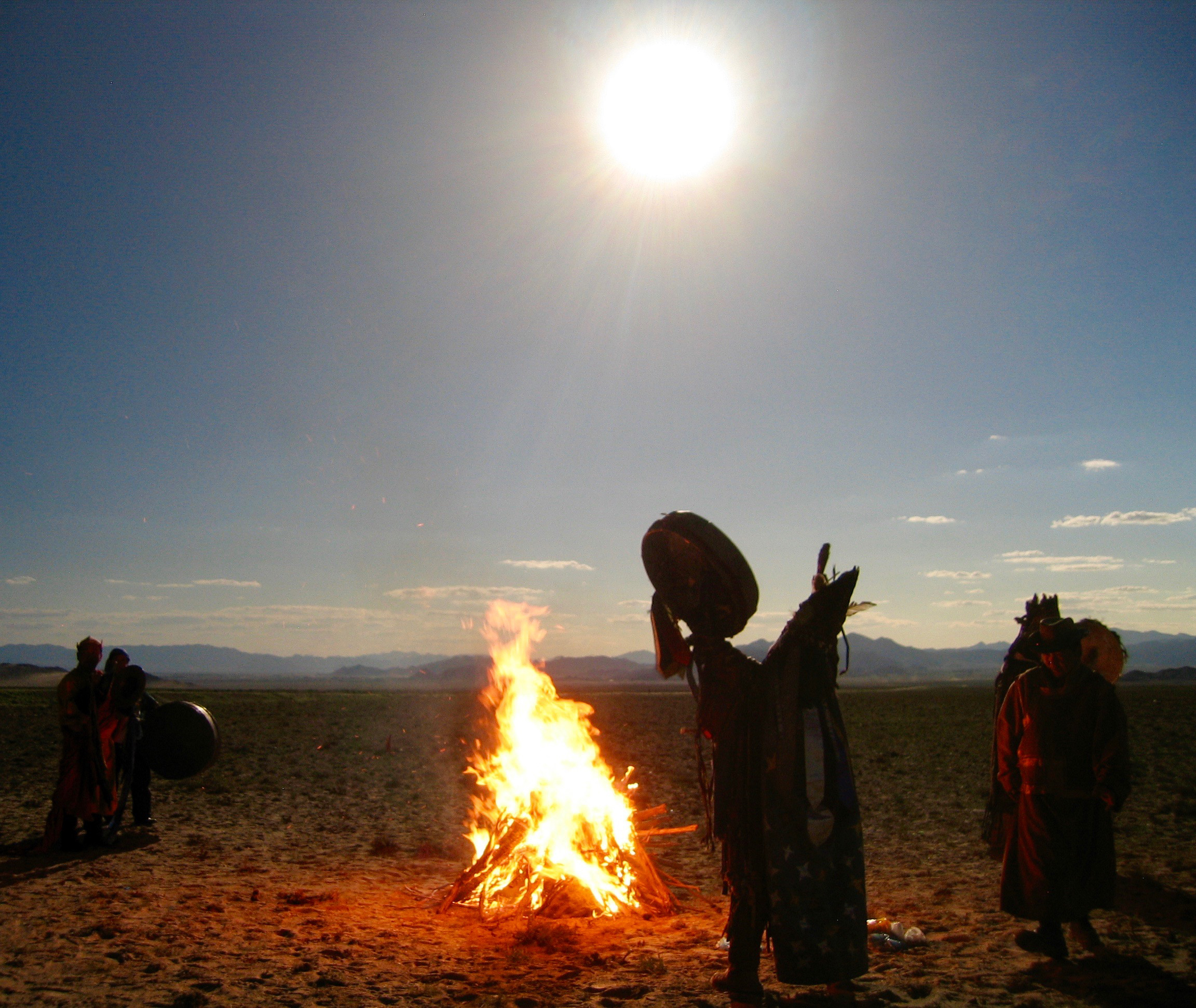 A Shaman ceremony during a total solar eclipse in Mongolia where Ray Jayawardhana, astrophysicist and Dean of the Faculty of Science, was to watch the event