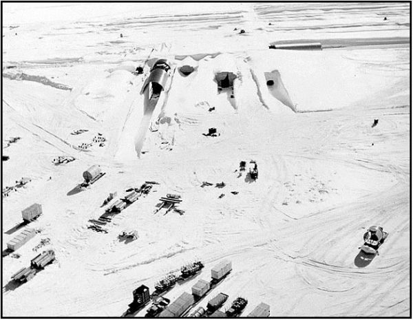 to Camp Century during construction in 1959. Credit US Army