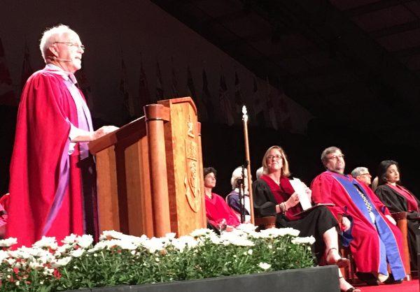 Tim Brodhead received an honorary doctor of laws degree at York University's spring 2018 convocation