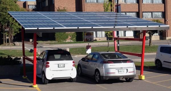York U solar charging station