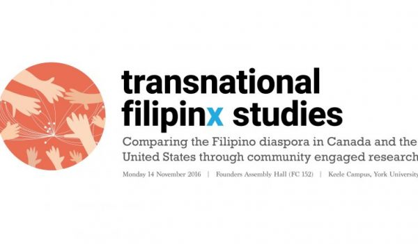 """Transnational Filipinx Studies: Comparing the Philippine Diaspora in Canada and in the United States"", will bring together academics, activists and community members"