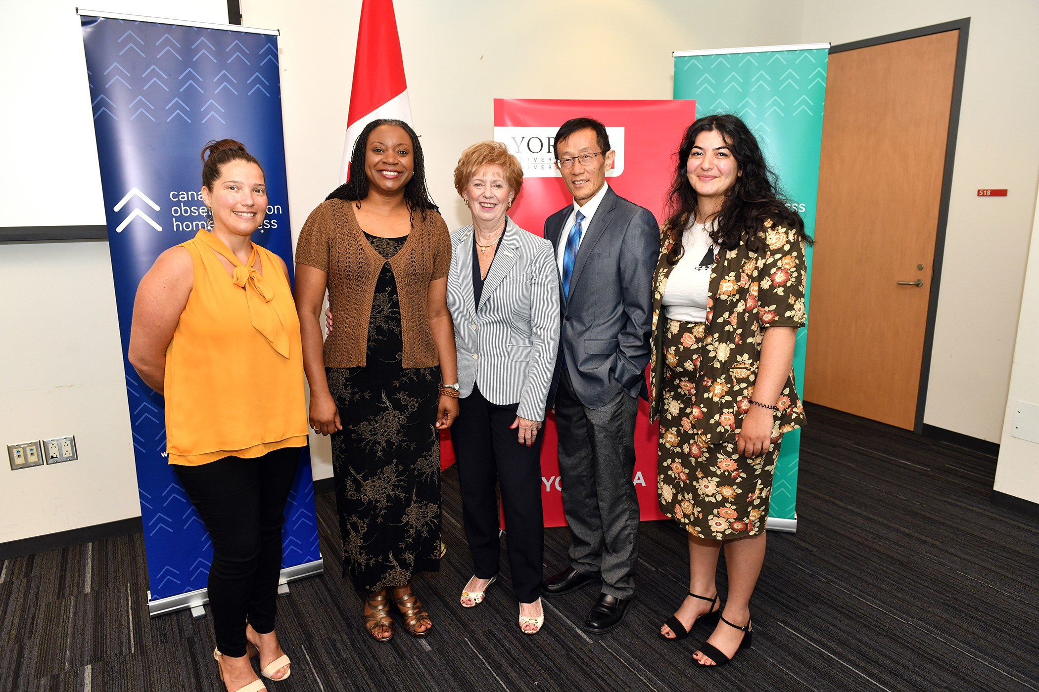 MP Judy Sgro with representatives of York University and the Canadian Observatory on Homelessness