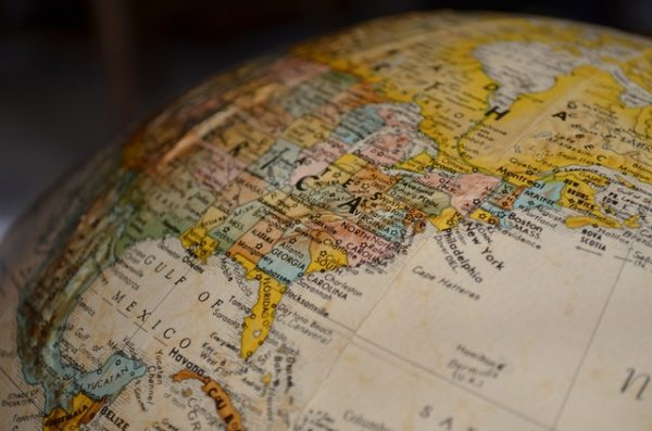 image of world map globe